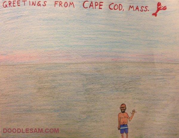 I Made a Postcard for You