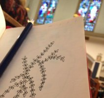 He Who Doodles in Church Sits in His Own Pew