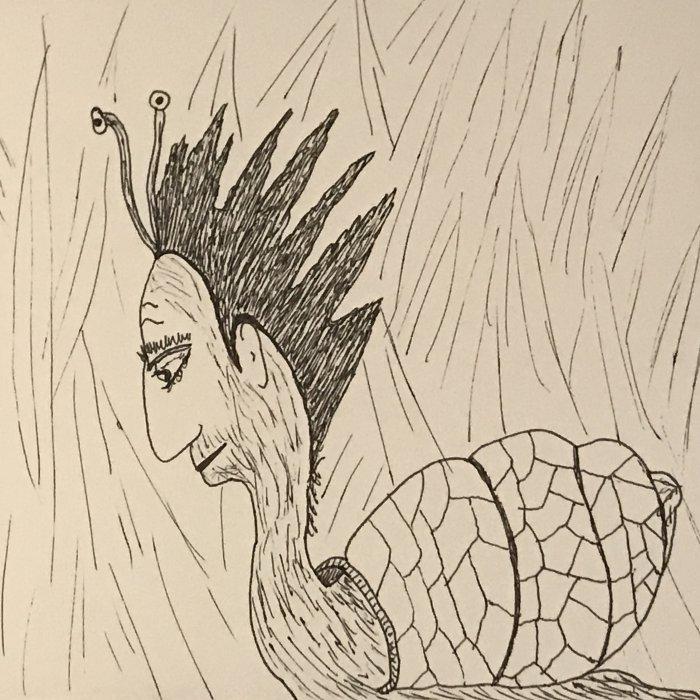 Punk Rock Garden Snail